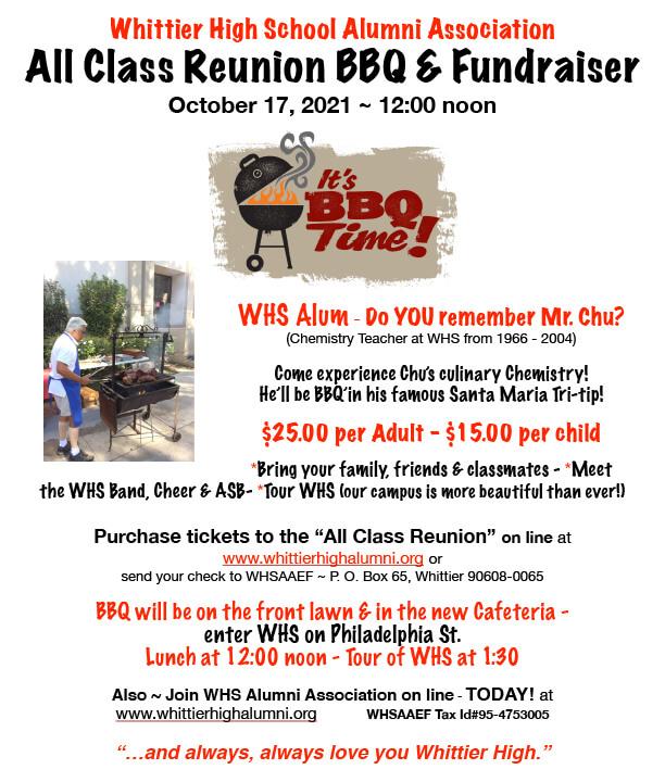 All Class Reunion BBQ Flyer-2021